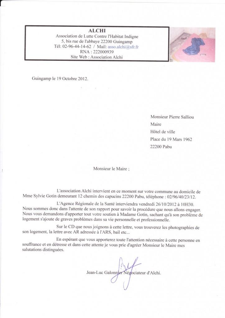 lettre maire pabu